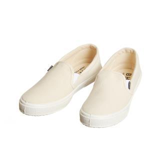 Dámske konopné slip-on topánky béžové s bielou podrážkou
