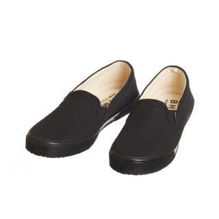 Dámske konopné slip-on topánky čierne s čiernou podrážkou