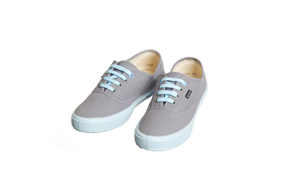 Dámske nízke plátené konopné tenisky sivo-modré značky BOHEMPIA S.R.O. b500b061f12