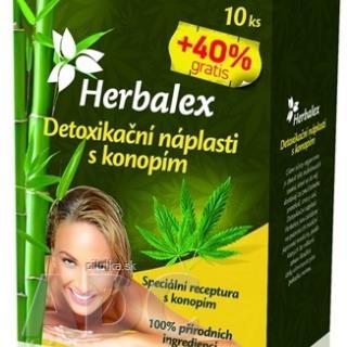 Herbalex detoxikačná náplasť s konopou 14 ks