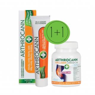 ANNABIS Dvojbalenie ARTHROCANN GÉL s koloid. striebrom 75 ml + COLLAGEN Omega 3-6 Forte Tablety 60 ks, 1x1 set