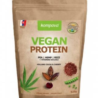 VEGAN PROTEIN prášok, 100% rastlinný proteín, čokoláda a višňa, 1x525 g