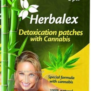 Herbalex Detoxikačné náplasti s konopou 1x2 ks