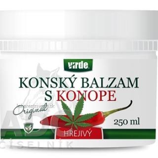 VIRDE KONSKÝ BALZAM S KONOPOU hrejivý 1x250 ml