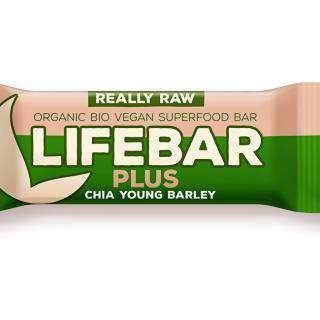 Bio tyčinka Lifebar Plus chia semienka a mladý jačmeň 47g