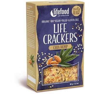 Bio LIFE Crackers konopné s šalvie 90g
