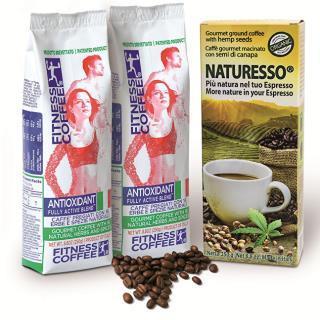 Darčekový balíček Fitness Coffee 2x250 g + Natu RESS s konopným semienkom 250 g