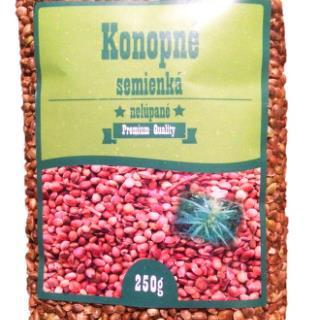 Konopné semienká nelúpané celé 250g SR