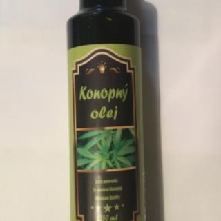 Konopný olej extra panenský 250ml SKLO  -čerstvý lisovaný max. pred mesiacom SR