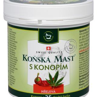Konská masť hrejivá s kanabisom 250 ml