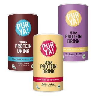 PUR YA! Vegan Protein Drink BIO 550 g red banana baobab