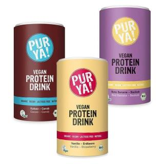 PUR YA! Vegan Protein Drink BIO 550 g vanilla strawberry